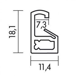 Zubehör Wechselrahmen Maxi-Poster 61 x 91,5 Silber – Bild 2