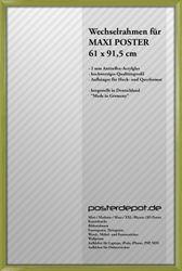 Zubehör Echtholz Wechselrahmen 61 x 91,5 cm Grün (P89) – Bild 1