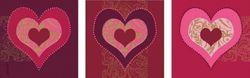 Wandaufkleber 3er Set Liebe und Herzschmerz – Bild 1