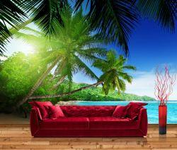 Vliestapete Palmenstrand im Paradies – Bild 1