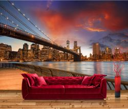 Vliestapete New York - Brooklyn Bridge – Bild 1