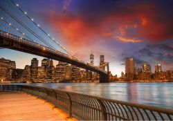 Vliestapete New York - Brooklyn Bridge – Bild 2
