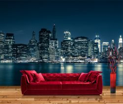 Vliestapete New York Skyline in Blau – Bild 1