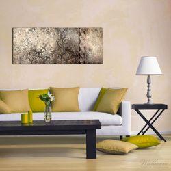 Acrylglasbild Schnörkelmuster in dunkelbraun – Bild 2