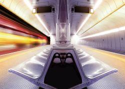 Glasbild Metro - Licht- und Farbenspiel II