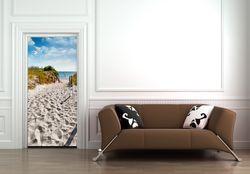 Türtapete Möwen auf dem Weg zum Strand – Bild 3