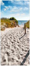 Türtapete Möwen auf dem Weg zum Strand – Bild 1