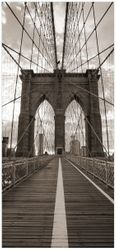 Türtapete Brooklyn Bridge in New York  – Bild 1