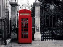Fototapete Telefonzelle London - Telephone Box – Bild 1