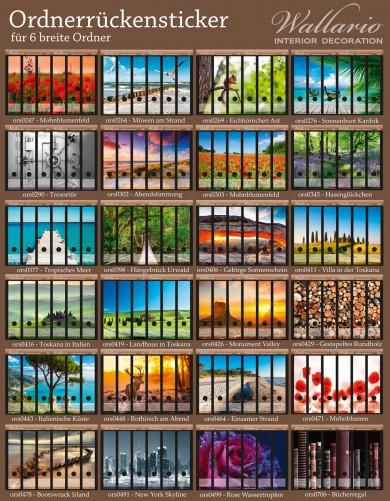 Ordnerrücken Sticker Bunte Holzplanken – Bild 3