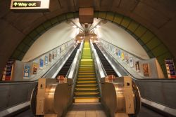 Fototapete New York Subway - Rolltreppen – Bild 1