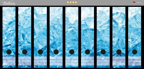 Ordnerrücken Sticker Eiswürfel