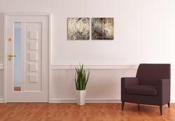 Acrylglasbild Schnörkel in dunkelbraun – Bild 3