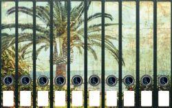 Ordnerrücken Sticker Palmen und Kokosnüsse auf Hawai