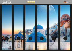 Ordnerrücken Sticker Urlaub auf Santorini