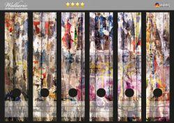 Ordnerrücken Sticker Bemalte Holzplanken mit alter Schrift