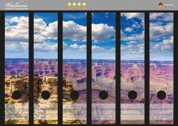 Ordnerrücken Sticker Felsenschlucht im Grand Canyon Park Arizona