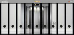 Ordnerrücken Sticker Fahrstuhl