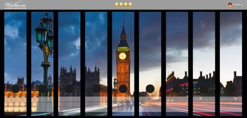 Ordnerrücken Sticker London- Big Ben bei Nacht