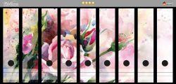Ordnerrücken Sticker Abstraktes Blumenbuket