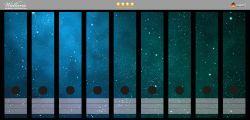 Ordnerrücken Sticker Sternenhimmel - Milchstraße und Sterne bei Nacht