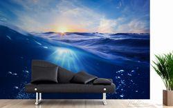 Vliestapete Wellen im Meer bei Sonnenuntergang – Bild 3