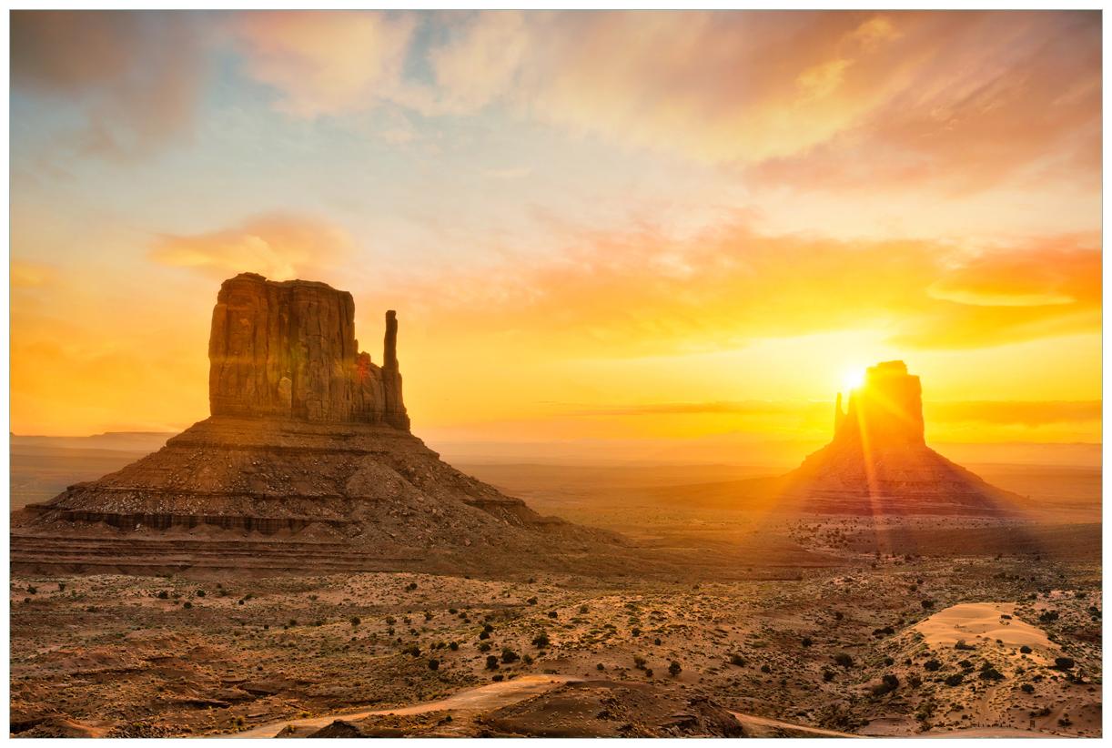 Vliestapete Monument bei Sonnenuntergang – Bild 1
