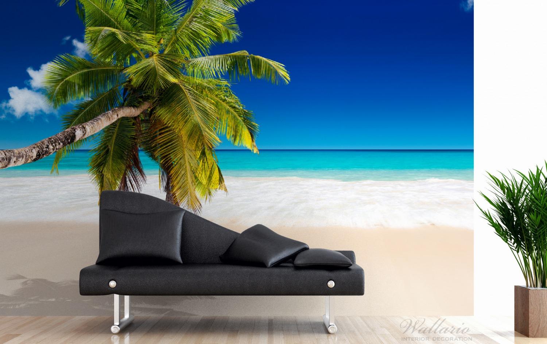 Vliestapete Südseestrand in der Karibik mit Palme – Bild 3
