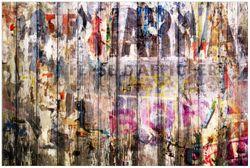 Vliestapete Bemalte Holzplanken mit alter Schrift – Bild 1