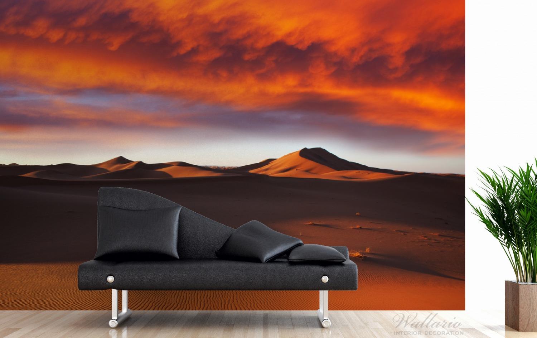 Vliestapete Sahara Wüste II - Sanddünen im Sonnenuntergang – Bild 3