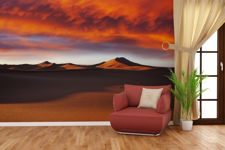 Vliestapete Sahara Wüste II - Sanddünen im Sonnenuntergang – Bild 4