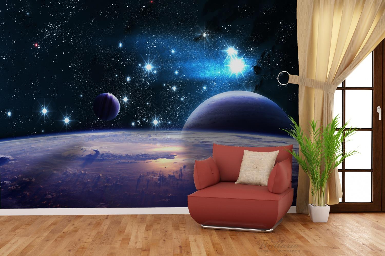 Vliestapete Planeten im Weltall – Bild 4