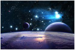 Vliestapete Planeten im Weltall – Bild 1