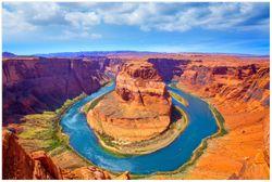 Vliestapete Hufeisenförmiger Mäander des Colorado River – Bild 1