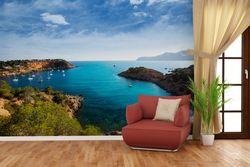 Vliestapete Ibiza - Blick von einer Bucht aufs Meer – Bild 4