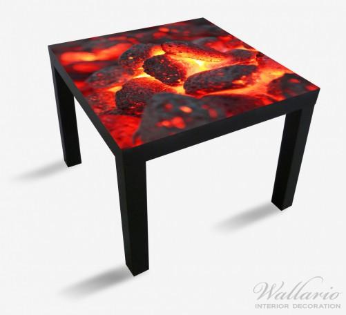 Möbelfolie Glühende Kohlen im Kamin – Bild 1