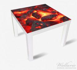 Möbelfolie Glühende Kohlen im Kamin – Bild 2