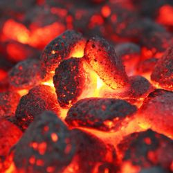 Möbelfolie Glühende Kohlen im Kamin – Bild 3
