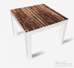 Möbelfolie Holz in dunkelbraun mit Blumenmuster - Schnörkel – Bild 2