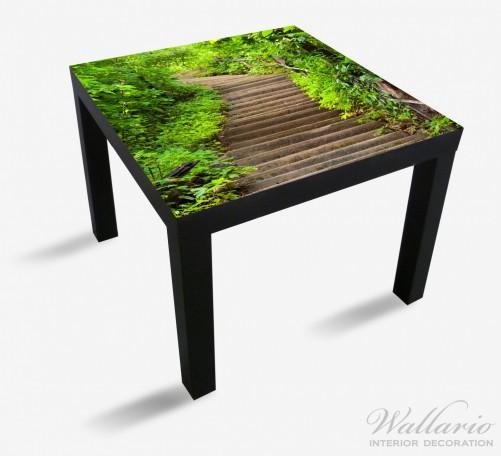 Möbelfolie Steintreppe im Wald – Bild 1