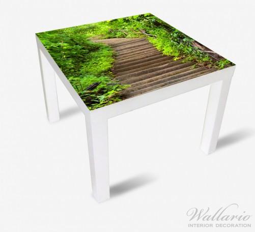 Möbelfolie Steintreppe im Wald – Bild 2