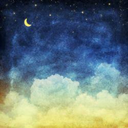 Möbelfolie Wolkenhimmel mit Mond und Sternen – Bild 3