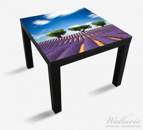 Möbelfolie Abstraktes lila Blumenfeld mit Lavendel – Bild 1
