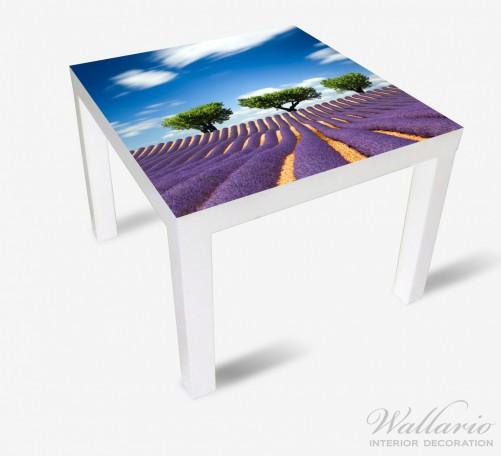 Möbelfolie Abstraktes lila Blumenfeld mit Lavendel – Bild 2