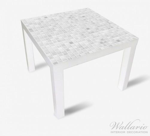 Möbelfolie Fliesen im Bad weiß-grau – Bild 2