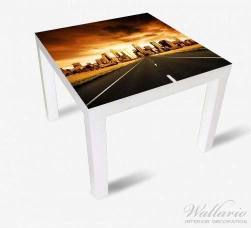 Möbelfolie Skyline am Ende der Straße – Bild 2