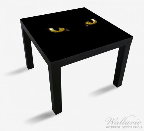Möbelfolie Gelb leuchtende Katzenaugen bei Nacht – Bild 1