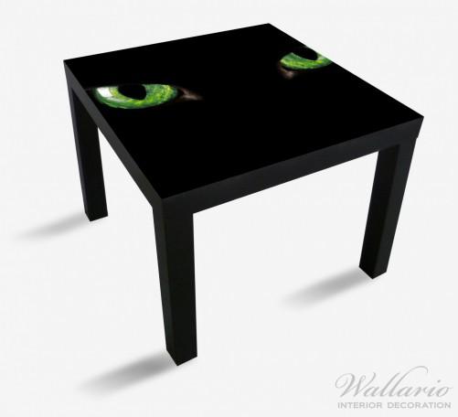 Möbelfolie Grün leuchtende Katzenaugen bei Nacht – Bild 1