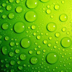 Möbelfolie Wassertropfen auf Grün – Bild 3