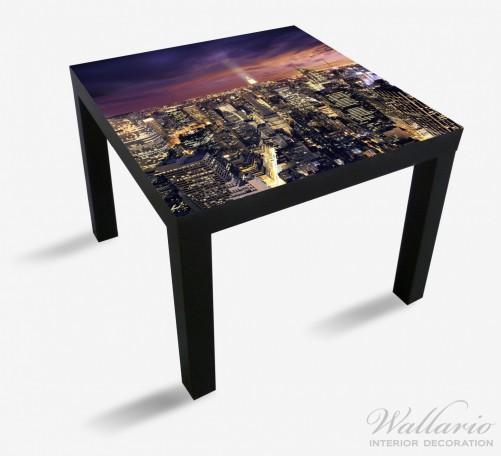 Möbelfolie New York bei Nacht - Panoramablick über die Stadt – Bild 1